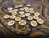 Ceylon Cedar branch rune set - medium large - white cedar - Elder Futhark - FREE DOMESTIC SHIPPING