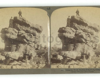 Garden of the Gods, Colorado - 19th Century Stereoview Photography
