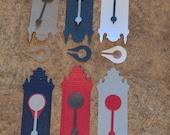 Old Fashioned Wall Clock - metallic cardstock, kraft cardstock, pendulum, scrapbooking, cardmaking, altered art, collage, art supply