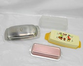 RESERVED LENORA butter dishes stainless butter dish copper butter dish butter dish retro butter dish picnick table picnic butter dish
