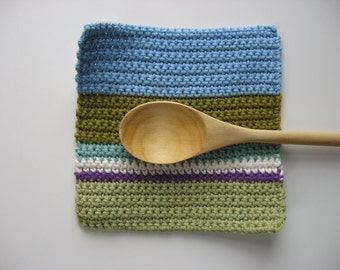 color block cotton pot holder