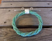 Rope Towel Ring With Stainless Steel Cleat Nautical Bathroom or Kitchen Fixture Marine Beach