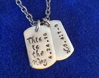 Nickle Silver Dog Tag Pendants Nickel and Stainless Steel Chain. Made to last.