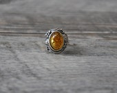 HandCrafted Baltic Amber Rings