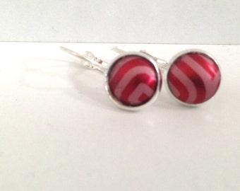 Ruby Red Earrings Handmade Pierced Lightweight Earrings