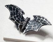 Bat Hair Clip - Batman Hair Clip - Halloween Hair Clip - Black Bat Hair Clip - Sparkle Bat Hair Clip - Halloween - Bat Halloween Costume