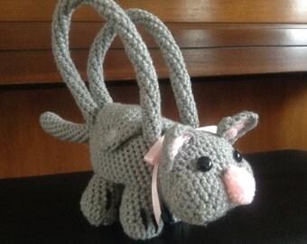 Crocheted kitten purse