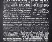 Custom Listing for Ginginqualitymeats - Personalized Chalkboard Nurse Rules - Digital File - Last Minute Gift for Nurse