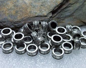 32 Tibetan Silver Spacer Beads