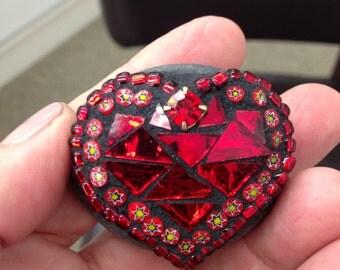 """Tiny Mosaic """"Rock of Love"""""""
