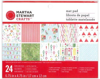 Martha Stewart Christmas Mat Pad for 4x6 Photos - Merry and Bright