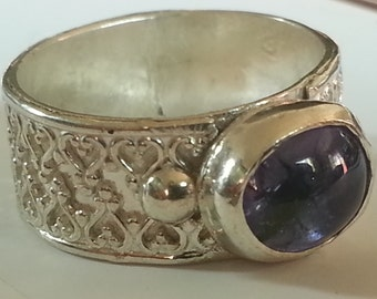 Tanzanite Size #8 Sterling Silver Ring
