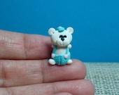 Tiny Handcrafted Polymer Clay Bear Figurine