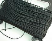 2 mm Braided Cord Nylon = 1 Spool = 25 Yards = 22.86 Meters Elegant Rope - Black