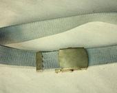 S A L E Vintage Cotton Belt - Buckle - Belt can fit for Size S
