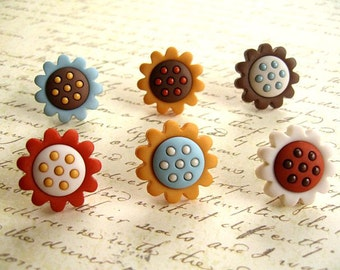 Flower Thumbtack, Flower Push Pin, Flower Notice Board Pins, Home Decoration, Party Supplies