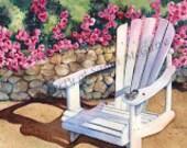 "Watercolor Print ""Summer"" by Sandi McGuire"