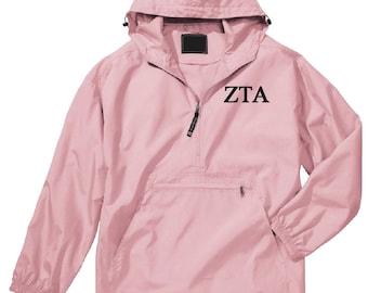 Zeta Tau Alpha Unlined Anorak (Pink)