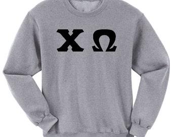 Chi Omega - Athletic Grey Sweatshirt