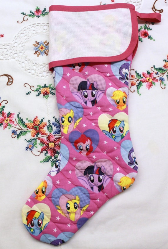 My Little Pony Stitchable Quilted Cross stitch Christmas Stocking