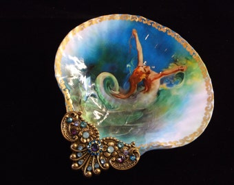 Shell Jewelry Dish, Trinket Dish, Mermaid Dish