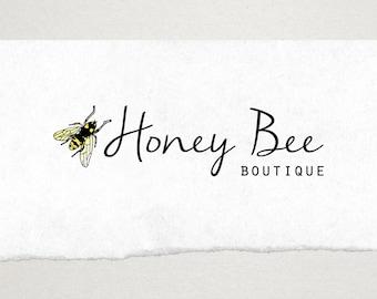 Premade Logo // Logo Design // Business Logo //  Photography Logo // Watercolor Logo // Bee Logo