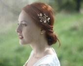 Pearl Hair Pin, Bridal Headpiece, Pearl Hair Vine, Bridal Pearl Headpiece, Wedding Headpiece, Fresh Water Pearl Hair Pin