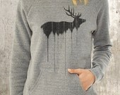Women's Slouchy Sweatshirt - Elk Above Treeline - Alternative Apparel Maniac Sweatshirt