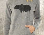Women's Slouchy Sweatshirt - Bear Above Treeline - Alternative Apparel Maniac Sweatshirt