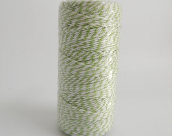 LIME GREEN- Thick Bakers Twine (12 ply)- 100 yd spool- Packaging, Gift Wrap, Baking Parties