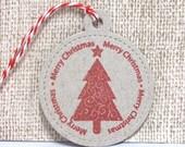 Christmas Gift Tags, Holiday Gift tags, Handmade Gift Tags, Set of Tags, Set of 8