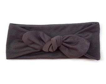 Grey Knot Headband