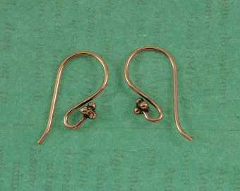Genuine Copper Earwires - Bali Style - 50 Pieces