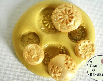 Silicone  Buttons Mold for cake decorating, chocolate, hard candy, polymer clay, resin, wax, soap, silicone mould M26