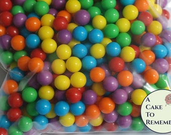 4 oz edible sugar pearls, Pearl cake dragees, rainbow colors edible pearls. 6mm size for cupcakes and cake decorating.