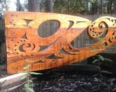 Baidarka Inspired Wooden Wall Art