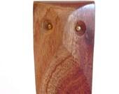 Vintage wood owl bottle opener, kitchen tools, owl figurine, vintage barware, made in India