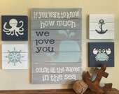 Nautical Wall Art - Great for Nursery or Child' room - Can be customized with your own colors
