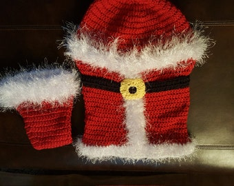 Baby Santa cocoon with hat
