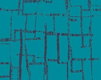 KNIT, Maze Blues, Imprint Collection, Art Gallery Fabrics, Cotton Jersey Knit, Stretchy Fabric