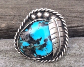 Gorgeous Old Pawn Turquoise Ring Size 6