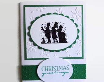 Christmas Carolers Card Christmas Card