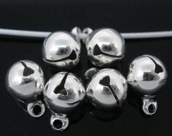 SALE - 20 Jingle Bell Charms in Silver Tone - C2273