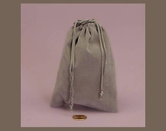 1 - 3 x 4 inch Gray Velour Bag for Gift Packaging