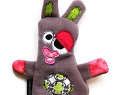 Medium Plush Durable Dog Toy with Heart Fortune & Squeaker - LuLu Flutters by Fugly Friends