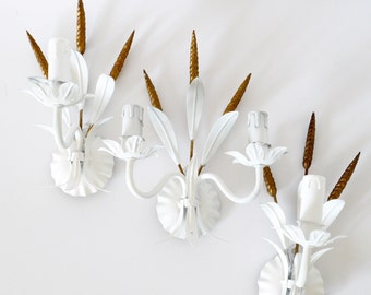 French tole Wheat Sconces set of 3