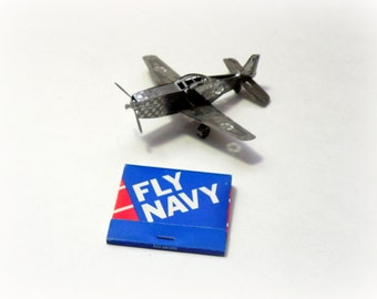 Excellent shape NEVER USED You Fly AIRPLANE Navy Book Matches- Naval Aviation-War Memorabilia