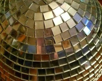 Vintage Round Glitzy Mosaic Glass Disco Ball