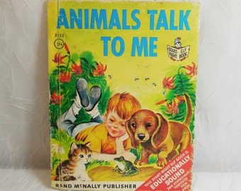 Animals Talk to Me - Start Right Elf Book #8133 Vintage - Rand McNally 1963