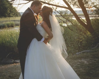 Poofy Tulle Wedding Dress Ball Gown